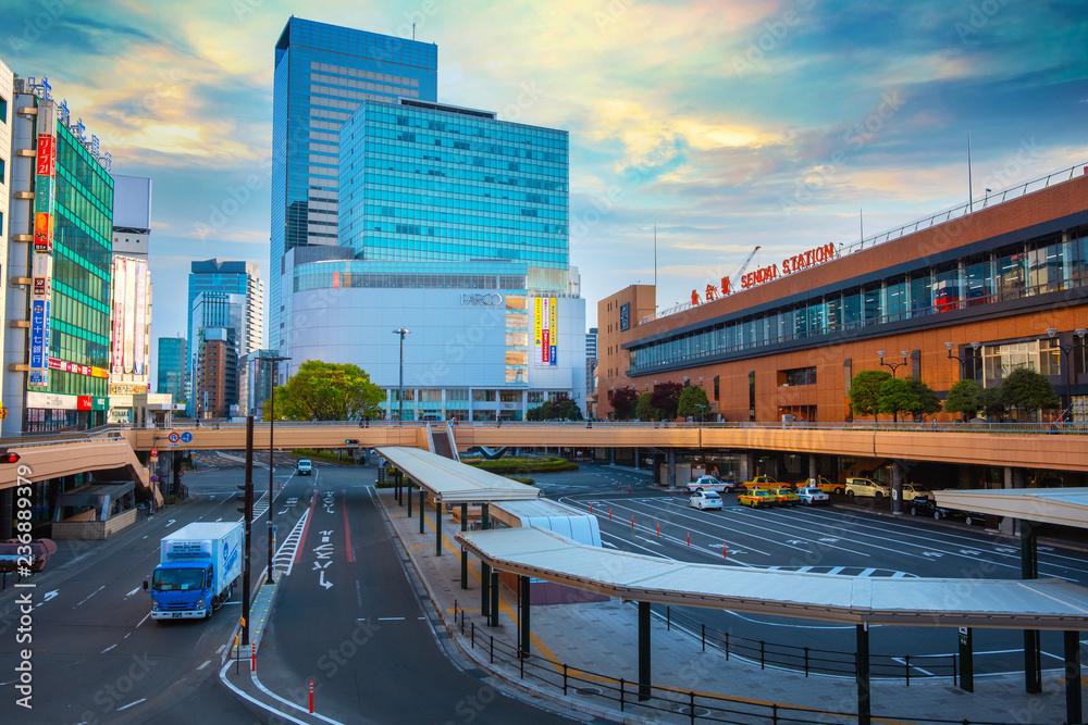 Fototapeta Sendai Station in Sendai, Japan
