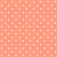 Pastel Orange Seamless Polka Dot Pattern Vector