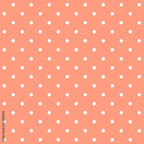 wektor-wzor-pastelowy-pomaranczowy-bezszwowe-polka-dot