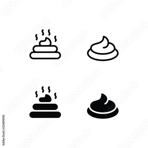 Fototapety, obrazy: Poop Icon Logo Vector Symbol. Feces Icon