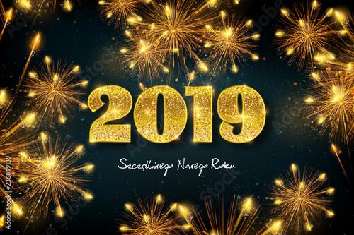 Fototapeta Szczęśliwego Nowego Roku 2019 obraz