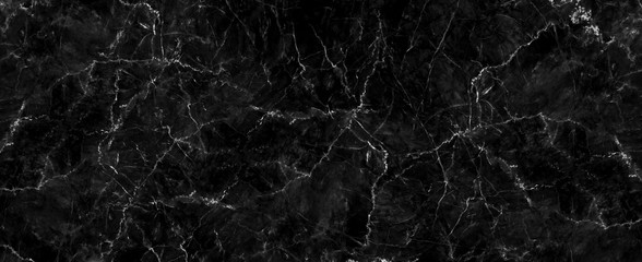 Panel Szklany Podświetlane Czarno-biały Natural black marble texture for skin tile wallpaper luxurious background, for design art work. Stone ceramic art wall interiors backdrop design. Marble with high resolution