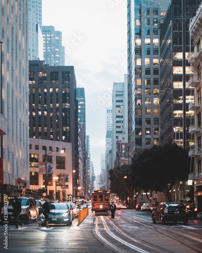 Cadres-photo bureau New York San Francisco Trolley at dawn