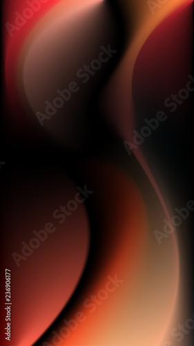 Abstract Wallpaper Design Of Mobile Interface Of Red And