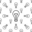 Bulb Icon Seamless Pattern