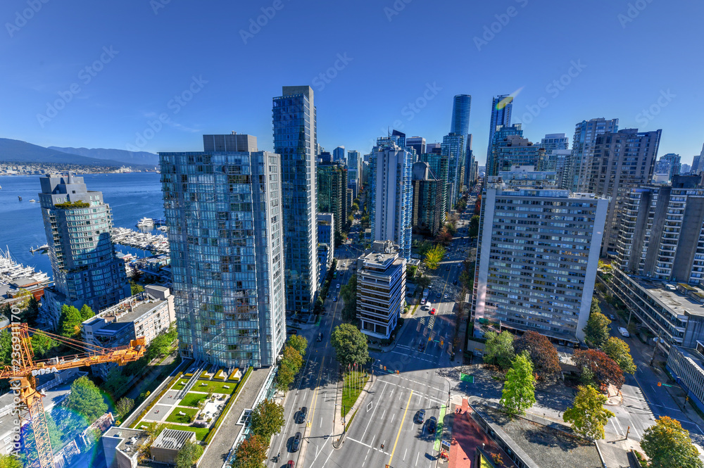 Fototapety, obrazy: Vancouver, Canada Skyline