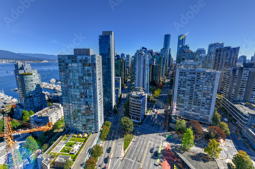 Fotografiet  Vancouver, Canada Skyline