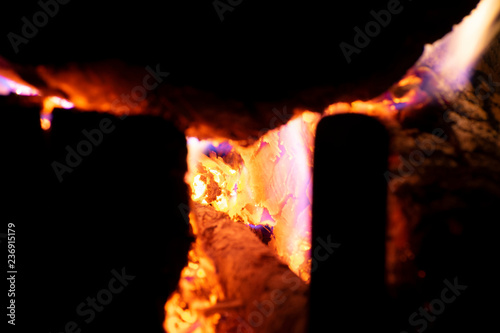 fire place coals