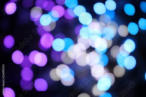 Photo Stands Eggplant abstract blurred holiday lights