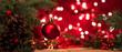 Leinwanddruck Bild Christmas background. Christmas tree and christmas balls