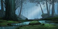 Natural Forest Park. Fiction B...