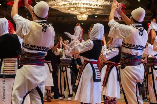 Canvas Print Albanian folklore team