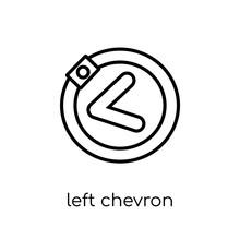 Left Chevron Icon. Trendy Mode...