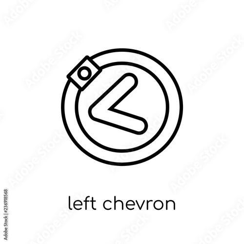 Left chevron icon Wallpaper Mural