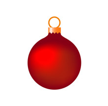 Christmas Tree Toy Or New Year Ball Isolated Vector Image