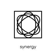 Synergy Icon. Trendy Modern Fl...