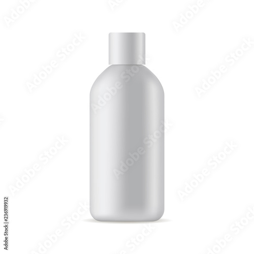 Photo  Small cosmetic bottle mockup isolated on white background