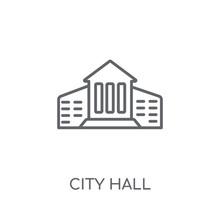 City Hall Linear Icon. Modern ...