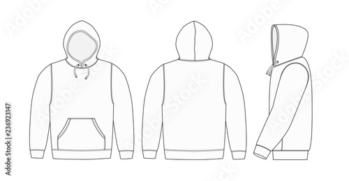 Illustration of hoodie (hooded sweatshirt) / white Canvas Print