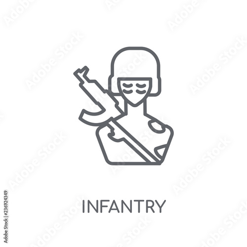 Fotografía  Infantry linear icon