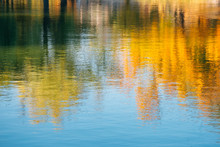 Autumn Maple Reflection In Water At Gyeongbokgung Palace In Seoul, Korea