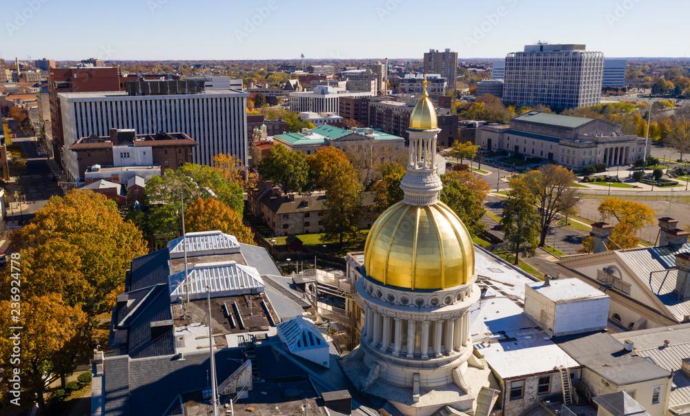 Fototapety, obrazy: Urban Downtown City Skyline Trenton New Jersey State Capital