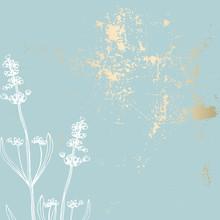 Trendy Pink Gold Floral Lavender Pastel Vintage Textures