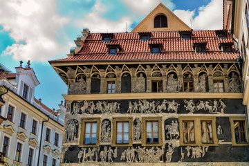 Fototapeta Prag, Haus zur Minute