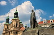 Prag, St. Nikolaus und Jan Hus