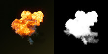Large Explosion With Black Smo...
