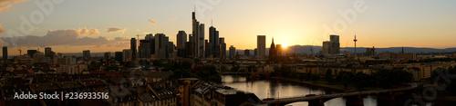 Zdjęcie XXL Panoramy tło z Frankfurt na głównej linii horyzontu