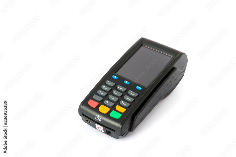 Fototapeta payment terminal  on white background