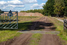 Cattle Grid In Sandy Track