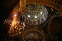 Low Angle Interior View Of St ...