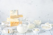 canvas print picture - Assortment of dairy products