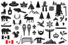 Canada Vector Icons Set (maple...