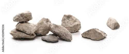 Fotomural Decorative rocks isolated on white background