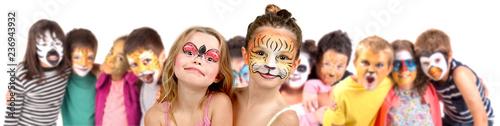 Obraz Kids with face-paint - fototapety do salonu
