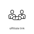 affiliate link icon. Trendy modern flat linear vector affiliate link icon on white background from thin line general collection