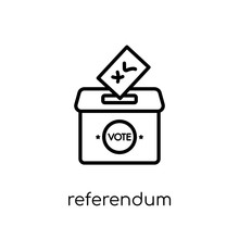 Referendum Icon. Trendy Modern...