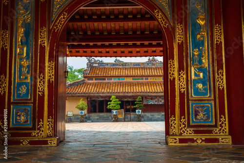 Papiers peints Con. ancienne Imperial Minh Mang Tomb in Hue, Vietnam.