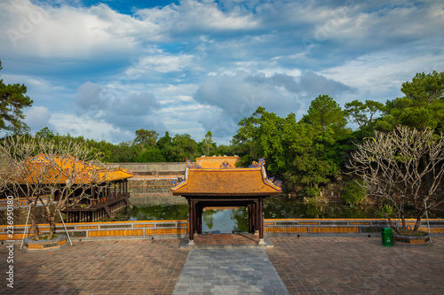 Keuken foto achterwand Historisch geb. Imperial Royal Palace of Nguyen dynasty in Hue, Vietnam. Hue is one of the most popular destinations in Vietnam.