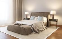 Modern Velvet Bedroom With Car...