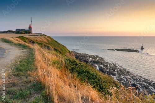 Garden Poster Atlantic coastline by the sunset.