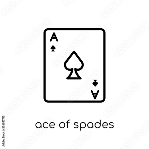 Photo  Ace of spades icon from Arcade collection.