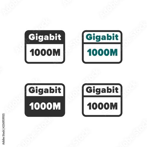 Fotografie, Obraz  Gigabit ethernet icon