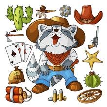 Western Wild West Art Stickers...