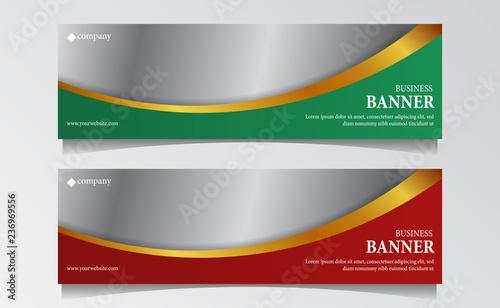 Fototapeta modern luxury Business header banner template. vector illustration obraz