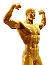 3d Rendered Illustration Of A Golden Man