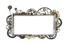 Metallic Frame With Vintage Ma...